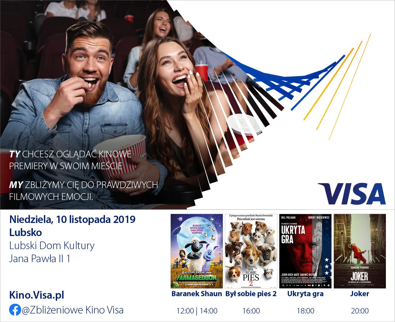 Ilustracja do informacji: Zbliżeniowe Kino Visa! 10.11.2019